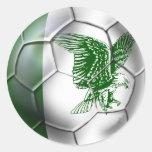 Camisetas del fútbol de Nigeria Pegatina Redonda