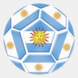 Camisetas del futebol de Argentina y engranaje del Etiqueta Redonda