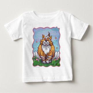 Camisetas del gato del jengibre polera