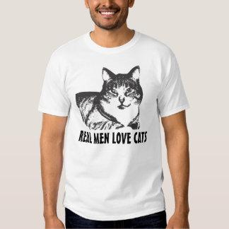 Camisetas del gato para los hombres - gatos reales polera