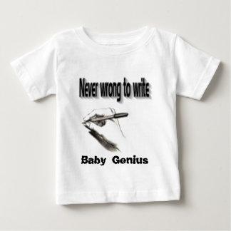 Camisetas del genio del bebé playera