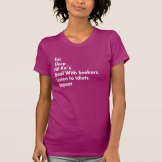 Camisetas del humor del farmacéutico playera