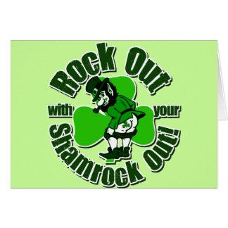 Camisetas del irlandés de la marca de Shamrockz Tarjeta De Felicitación