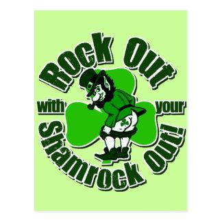 Camisetas del irlandés de la marca de Shamrockz Tarjetas Postales