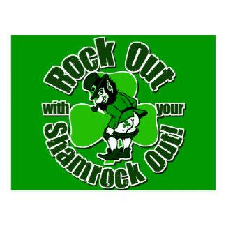 Camisetas del irlandés de la marca de Shamrockz Postales