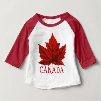 Camisetas del jersey del bebé de Canadá de la