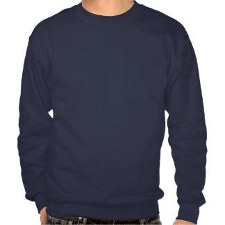Camisetas del jersey del cuello barco de la marina pulóver sudadera