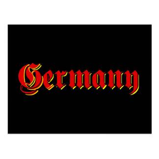 Camisetas del logotipo de Alemania y otros grandes Postales
