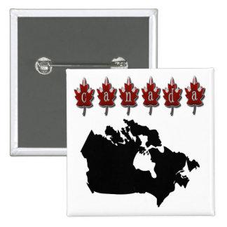 Camisetas del mapa de Canadá Pin