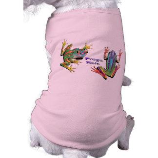 Camisetas del mascota de la regla de las ranas prenda mascota