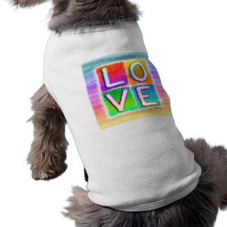 Camisetas del mascota del amor playera sin mangas para perro