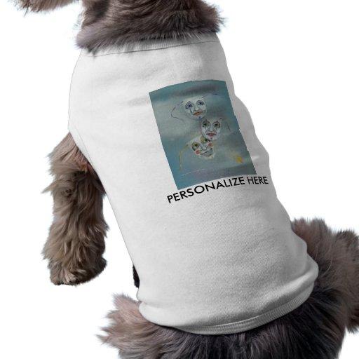 Camisetas del mascota - felicidad y máscaras de la playera sin mangas para perro