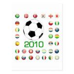 Camisetas del mundial Suráfrica 2010 Postales