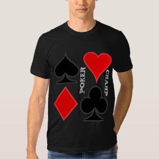 Camisetas del naipe playera
