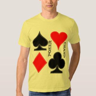 Camisetas del naipe poleras