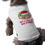 Camisetas del navidad del golden retriever, regalo ropa de mascota