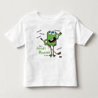 Camisetas del niño del monstruo del hockey playera