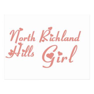 Camisetas del norte del chica de las colinas de postal