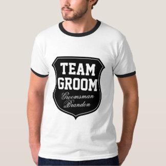 Camisetas del novio del equipo para el banquete de