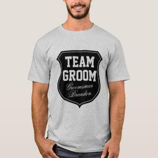 Camisetas del novio del equipo personalizadas con