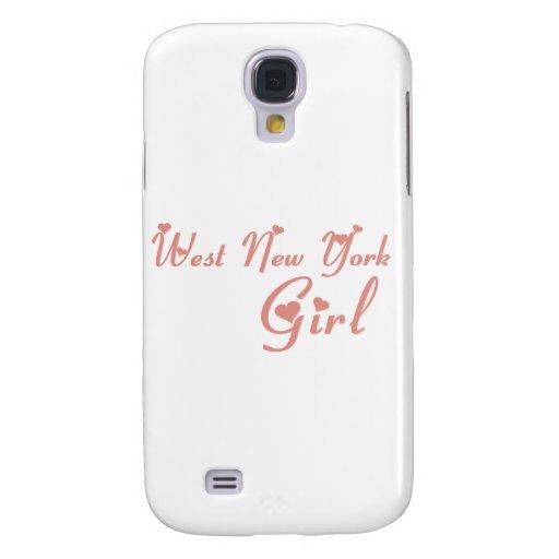 Camisetas del oeste del chica de Nueva York Funda Para Galaxy S4