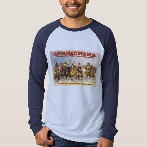 Camisetas del oeste salvajes del vintage de poleras