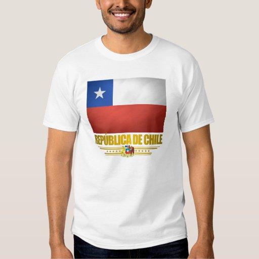 "Camisetas del ""orgullo chileno"" camisas"