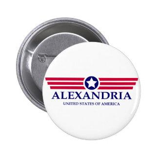 Camisetas del orgullo de Alexandría VA. Buen Pin Redondo 5 Cm