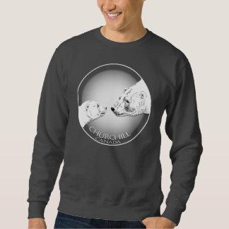 Camisetas del oso de Churchill de la camiseta del Sudadera Con Capucha