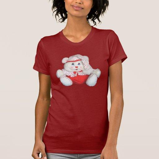 Camisetas del oso del bebé del corazón playera