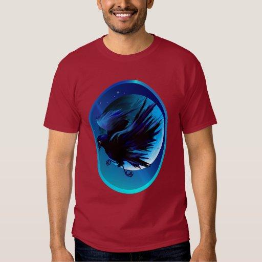 Camisetas del óvalo del cuervo y de la luna camisas