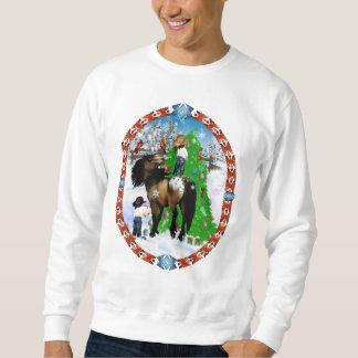 Camisetas del óvalo del navidad de un caballo y jersey