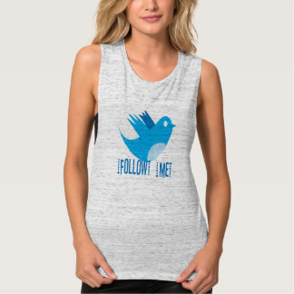 Camisetas del pájaro del gorjeo playera de tirantes anchos