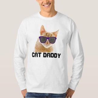 Camisetas del PAPÁ del CAT (PAPÁ), divertidas Poleras