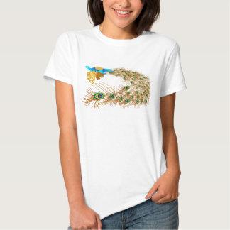 Camisetas del pavo real del vuelo camisas