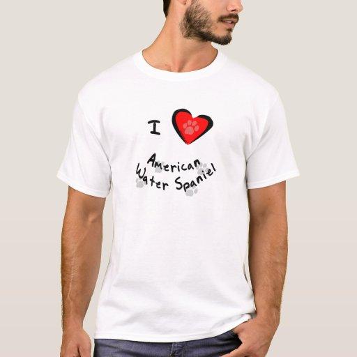 Camisetas del perro de aguas de agua americana -