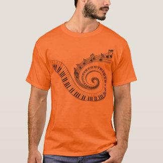 Camisetas del piano y de las notas musicales