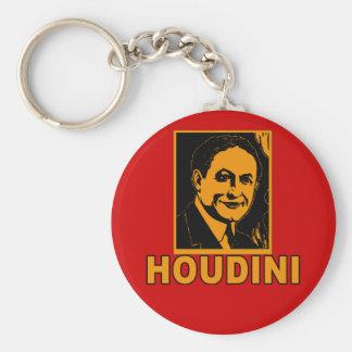 Camisetas del poster de Harry Houdini, tazas, rega Llavero Redondo Tipo Pin