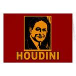 Camisetas del poster de Harry Houdini, tazas, rega Tarjetas