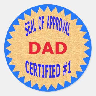 Camisetas del regalo del día de padre y artículos etiquetas redondas