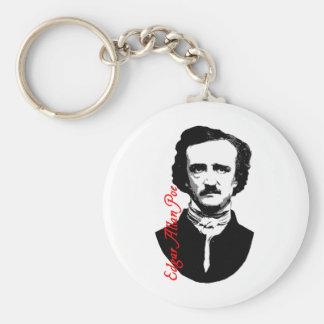 Camisetas del retrato de Edgar Allan Poe, sudadera Llaveros Personalizados