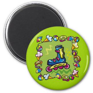 Camisetas del Rollerblade de los niños y regalos d Imán Redondo 5 Cm