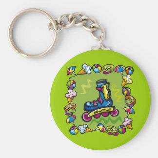 Camisetas del Rollerblade de los niños y regalos d Llavero Redondo Tipo Pin