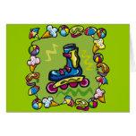 Camisetas del Rollerblade de los niños y regalos d Tarjeta