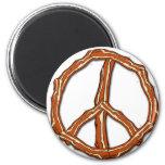 Camisetas del signo de la paz del tocino, sudadera imanes de nevera