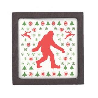 Camisetas del suéter del día de fiesta de Bigfoot Cajas De Recuerdo De Calidad