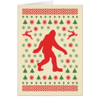 Camisetas del suéter del día de fiesta de Bigfoot Tarjeton