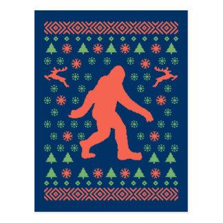 Camisetas del suéter del día de fiesta de Bigfoot Postal