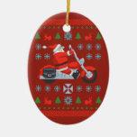 Camisetas del suéter del día de fiesta del motoris ornamentos de navidad
