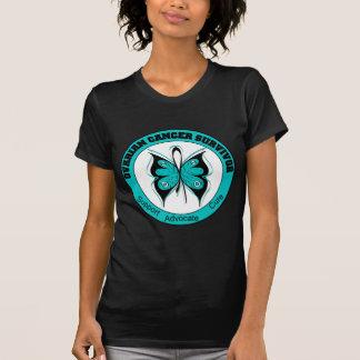 Camisetas del SUPERVIVIENTE del CÁNCER OVÁRICO Camisas